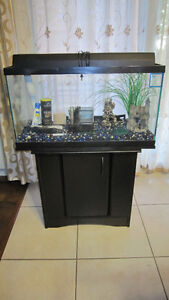 25 gal aquarium/fish tank fully equipped with stand