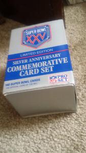 NFL silver commemorative card set
