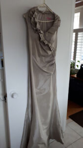 FS: Long Sleeveless Taupe Dress - only $50.00