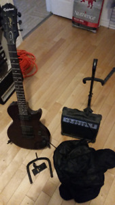 $275-Epiphone Speacial II with amp, bag, stands and wall hangers