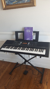 Yamaha keyboard YPT-340 hardly used