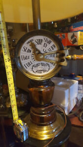 used, large nautical lamp with engine room telegraph