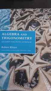 Algebra/trig text book for sale.