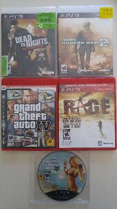 5 Jeus de PS3 :  25$