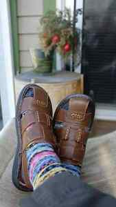 Men's genuine leather sandals Size: 42, 9