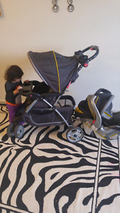 Baby trend stroller+carseat with base by fairview mall