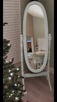 Refinished full length mirror
