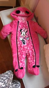 Minnie mouse 6 to 12 months snowsuit