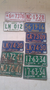 ALBERTA  licence plate collection