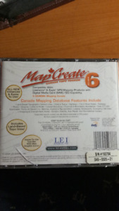 MapCreate 6.0 - Custom Mapping software CD-ROM