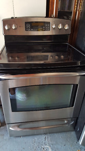 Stainless Steel GE Profile Fridge and Stove