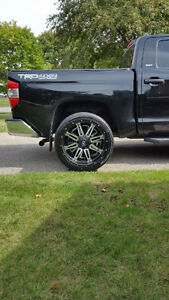 "Like New, Toyota 5x150 Fuel Hostage 24"" Rims, 305/35/R24 Tires"