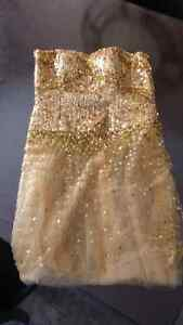 Stunning gold cocktail sequence dress