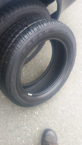 Two 205/55/R16 goodyear eagle tires