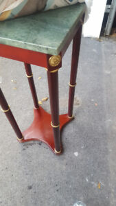 MARBLE TOP CHERRY WOOD TABLE STAND (reg $75)