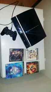80 GB, PS3 +4games backwards compatable