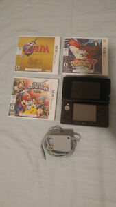 Nintendo 3DS with 3 games and charger