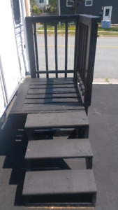 STAIRS DECK RAILING PAINTED WELL BUILT