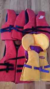 Life jackets in excellent contition. Used once. Adult and youth