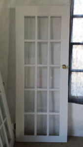 White Pine French Glass Doors