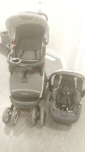 nearly new- Eddie Bauer Travel system...car seat stroller and ba