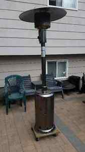 Patio Heater and Sun Lounge Chair