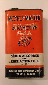 Vintage Canadian Motomaster Tire Oil Can