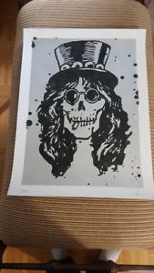 Slash Guns N Roses Velvet Revlover AFD Skull Original ART RARE