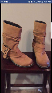 Womens Leather Boots Brand New