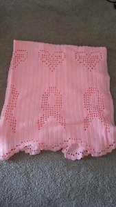 Homemade queen breast cancer blanket