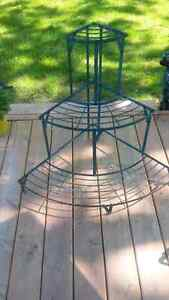 Old metal plant stand