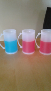 freezer mugs 2 red 1 blue all for $1