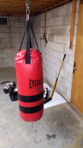 Everlast Heavy Bag, Boxing Gloves, Speed Bag