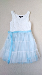 Blue and White Spring/Summer Dress, Toddler Girl, 4T