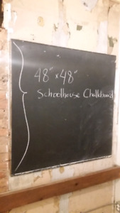 Large chalkboards removed from school