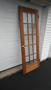 wood door with windows/french door