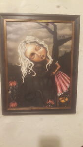 Angelina Wrona framed painting $40