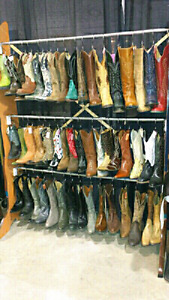 OVER 50 PAIRS OF COWBOY BOOTS! DON'T PAY RETAIL!
