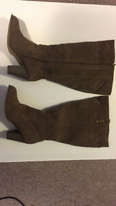 Women's Leather Boots Wide Leg