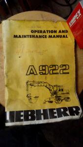 Liebherr A922 Excavator Rubber Tire
