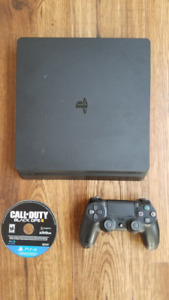 PS4 slim 500Gb with black ops 3, controller, all hookups