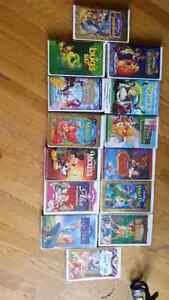 Collection of Walt Disney VHS