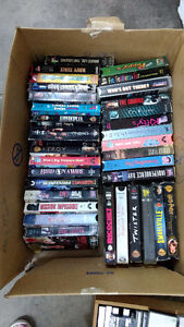 Assorted vhs movies $2.00 each