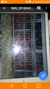 Heavy Solid Metal gate with 2 posts