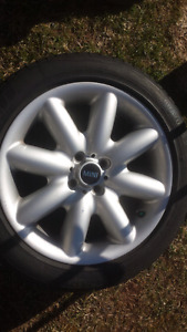 Cooper alloy rims and tires