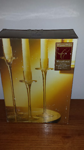 Crystal candle holders set.