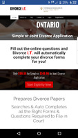 Simple/Joint/Uncontested Divorce Application $99.95 Online