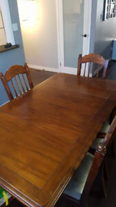 Table and chairs with hutch for sale
