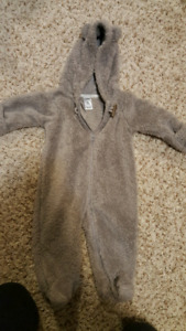 3-6 month fuzzy snow suit