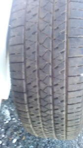 "FOUR 15 "" WINTER TIRES, 2 STUDDED, & 1 ALL SEASON TIRE"